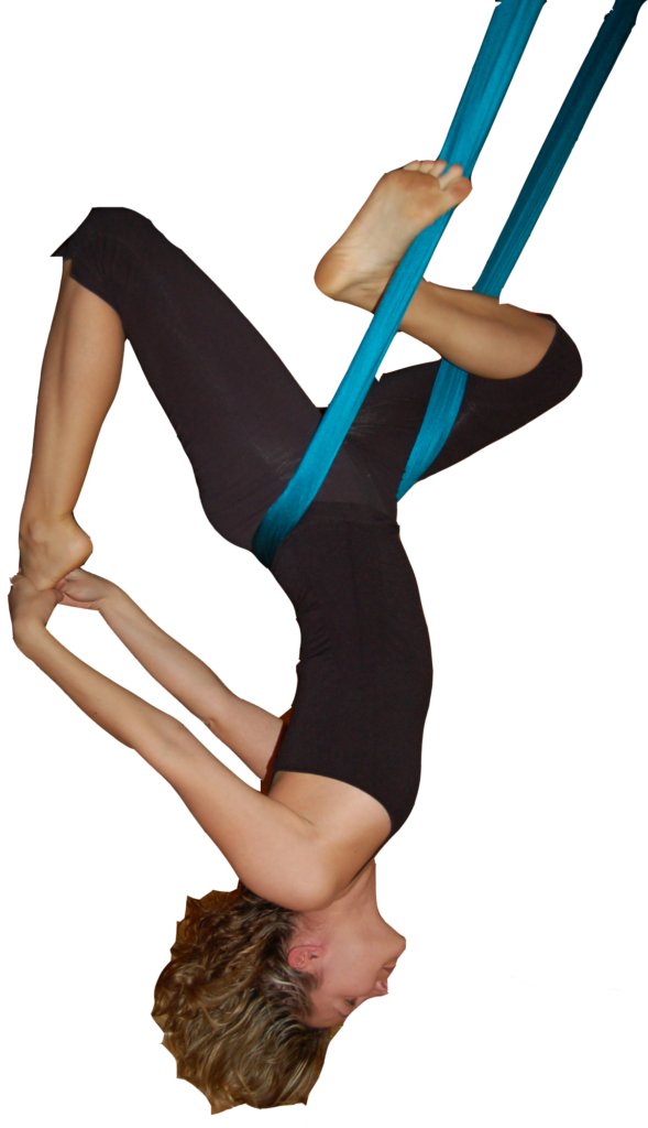 aerial yoga teacher training inverted screaming pigeon no background